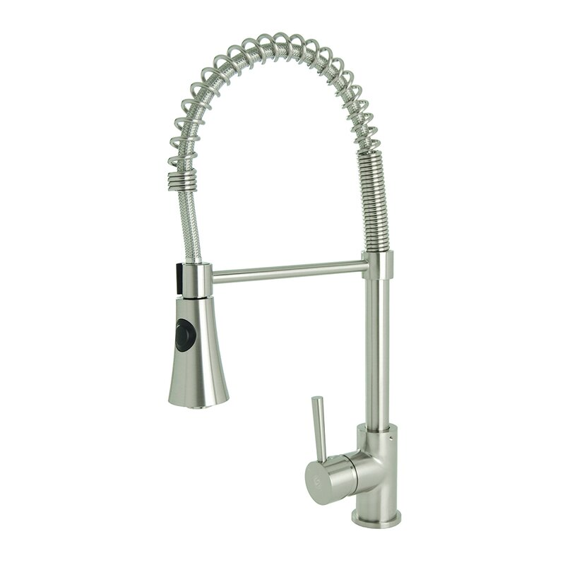 Fontainebyitalia Spring Coil Pull Down Single Handle Kitchen Faucet