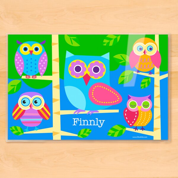 Owls Personalized Placemat by Olive Kids