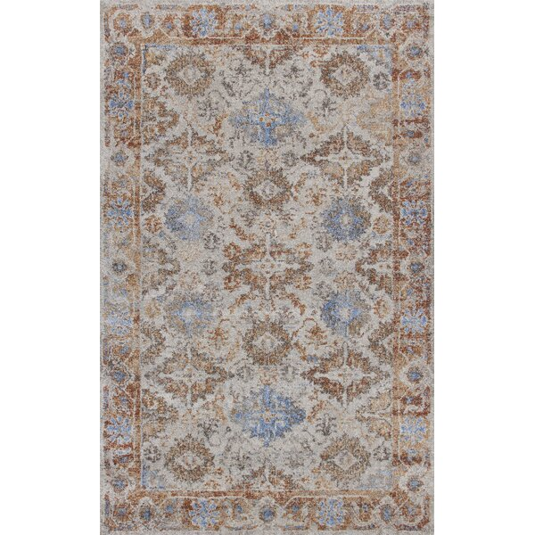 Talbotton Putty Brown/Blue Area Rug by Bungalow Rose