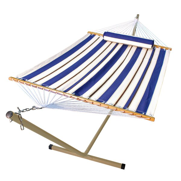 Nathaly 2 Piece Polyester Hammock with Stand Set by Beachcrest Home Beachcrest Home