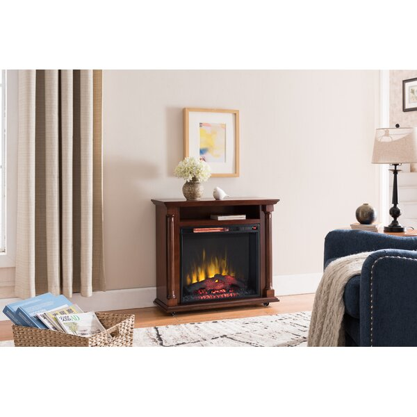 Seadrift Rolling Electric Fireplace By Charlton Home