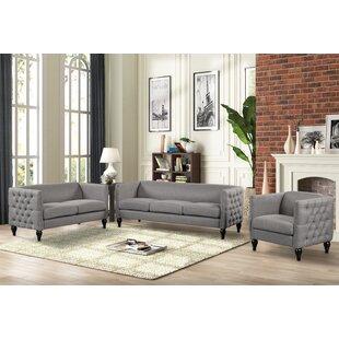 Orduna 3 Piece Standard Living Room Set by Canora Grey