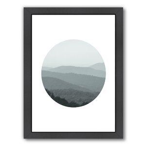 Shenandoah 2 Circle Framed Photographic Print by East Urban Home
