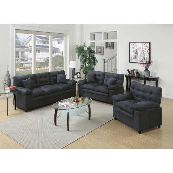 Best #1 Ferranti 3 Piece Living Room Set By Red Barrel Studio Coupon
