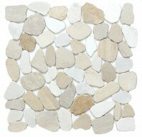 Cultura Pebbles 12 x 12 Marble Tile in Summer by Emser Tile