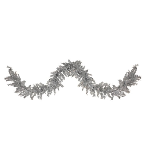 Tinsel Artificial Christmas Garland with Lights by Tori Home