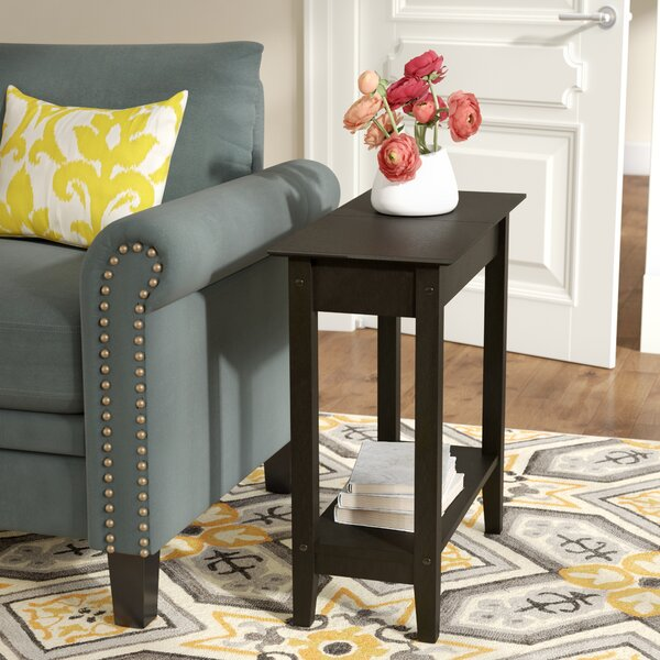 Haines Tray Top End Table With Storage By Andover Mills