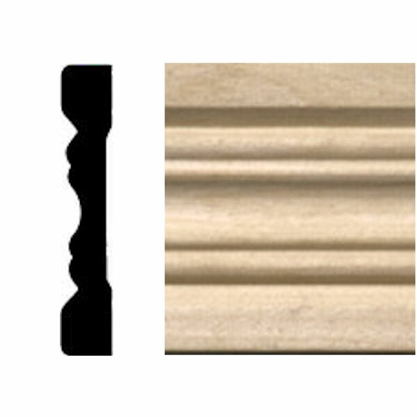 7 ft. x 2-1/4 in. x 3/8 in. Hardwood Fluted Casing/Chair Rail Moulding by Manor House