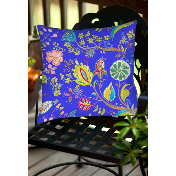 La Roque Summer Floral Indoor/Outdoor Throw Pillow by Manual Woodworkers & Weavers