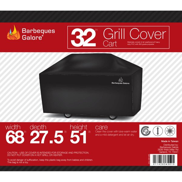 Turbo Elite Grill Cover - Fits up to 68 by Barbeques Galore
