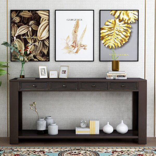 Clairville 64-inch Solid Wood Console Table By Red Barrel Studio