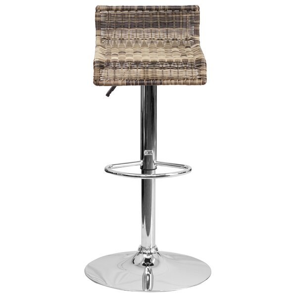 Applewood Adjustable Height Swivel Bar Stool (Set of 2) by Highland Dunes