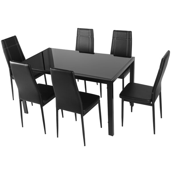 #2 Maynard 7 Piece Dining Set By Merax Coupon