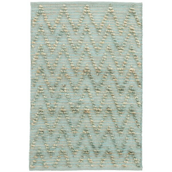 Chevron Hand-Woven Blue Area Rug by Dash and Albert Rugs