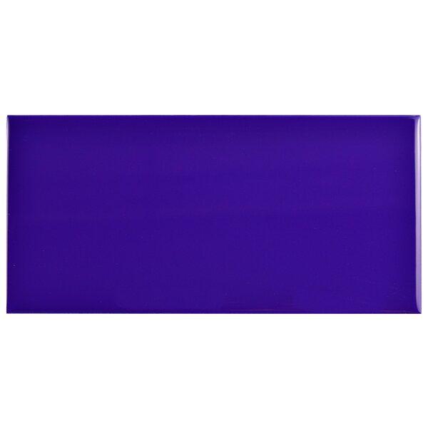 Prospect 3 x 6 Ceramic Subway Tile in Glossy Royal Blue by EliteTile