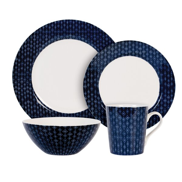 Diamond 4 Piece Place Setting, Service for 1 by Maxwell & Williams
