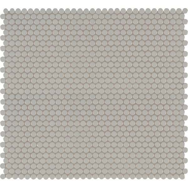 Domino Penny Mesh Mounted Porcelain Mosaic Tile in Gray by MSI