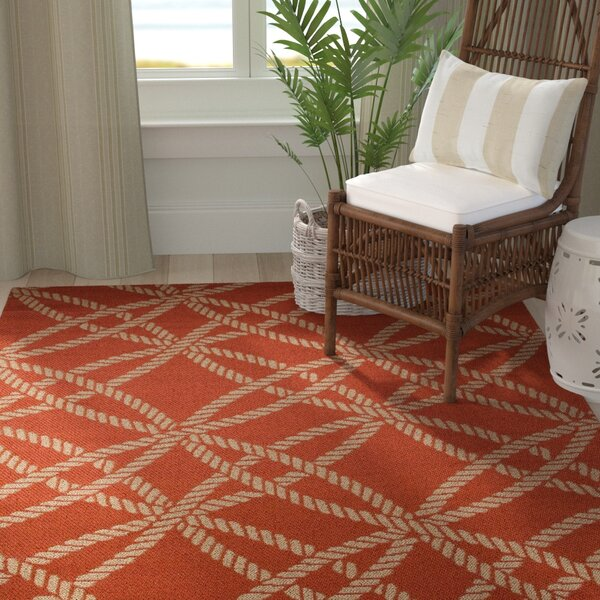 Criner Red Indoor/Outdoor Area Rug by Breakwater Bay