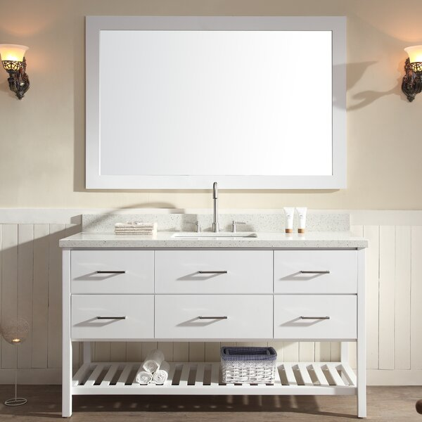 Felman 61 Single Sink Vanity Set with Mirror by Longshore Tides