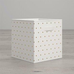 Polka Dot Fabric Bin & Polka Dot Plates | Wayfair