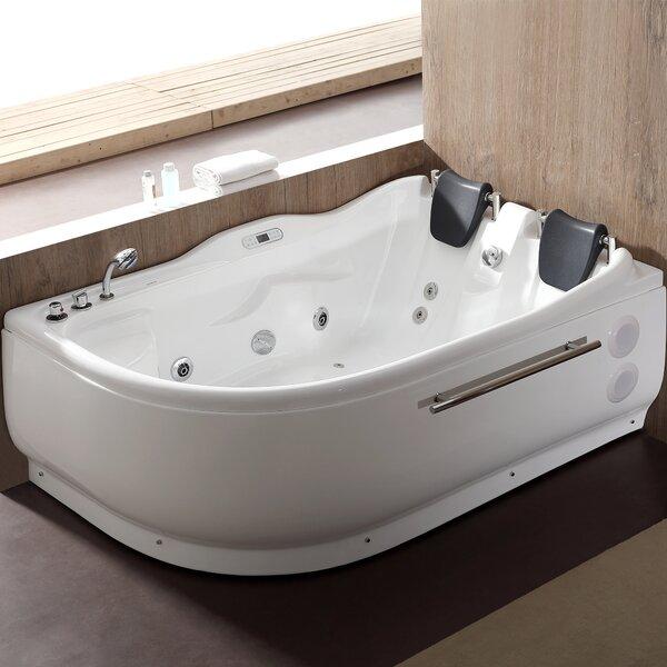 70.9 x 47.25 Corner Whirlpool Bathtub by EAGO