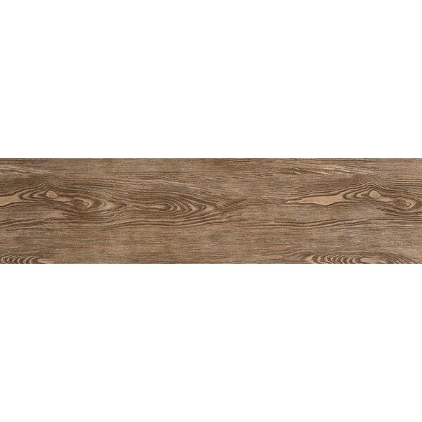 Alpine 6 x 36 Porcelain Wood-Look Plank Tile in Cafe by Emser Tile
