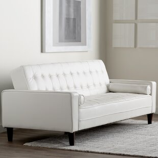 Navi Faux Leather Sleeper Sofa