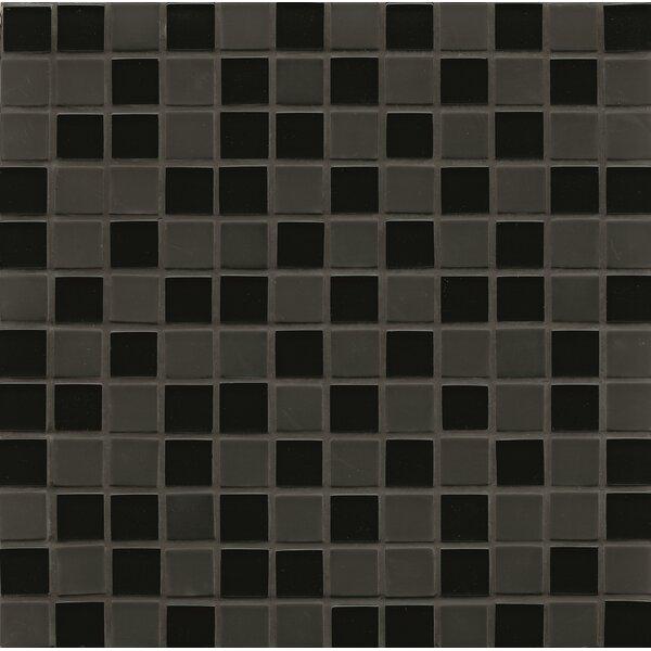 Contempo Glass 0.94 x 0.94 Glass Mosaic Tile in Black by Grayson Martin