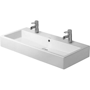 Shopping for Vero Ceramic Rectangular Vessel Bathroom Sink with Overflow By Duravit
