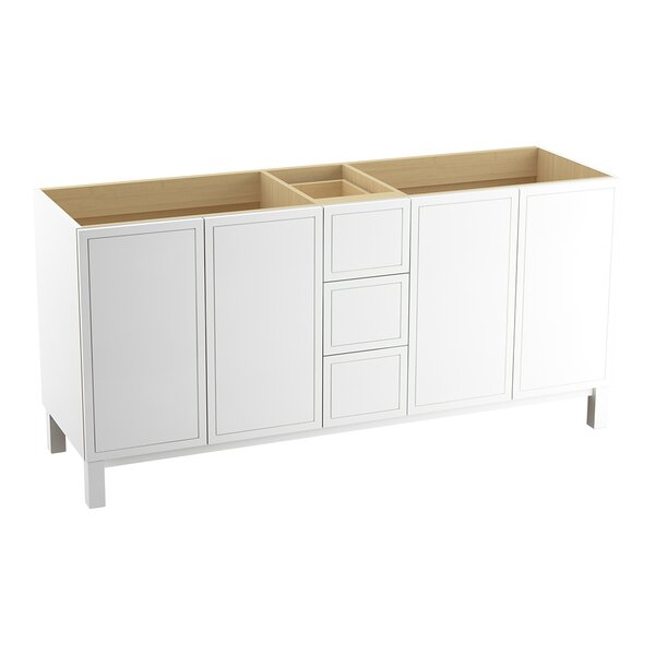 Jacquard™ 72 Vanity with Furniture Legs, 4 Doors and 3 Drawers, Split Top Drawer by Kohler