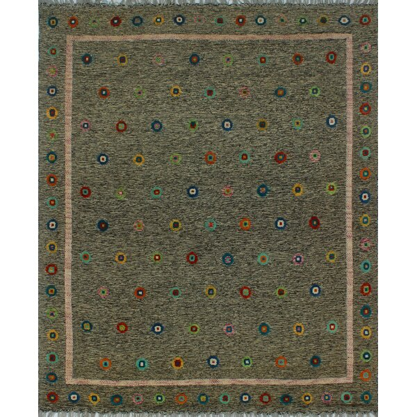 One-of-a-Kind Milliron Kilim Nourbese Hand-Woven Brown Are Rug by Bloomsbury Market
