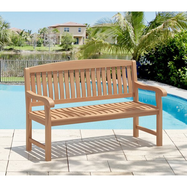 Emborough Teak Garden Bench by Rosecliff Heights