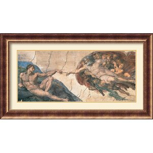 'The Creation of Adam, C.1508-12' by Michelangelo Buonarroti Framed Painting Print by Amanti Art
