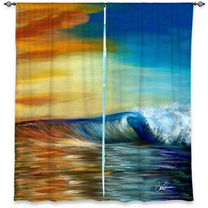 Hatteras Corina Bakke's Window Maui Wave II Room Darkening Curtain Panels (Set of 2)