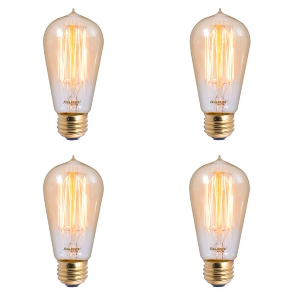40W E26 Dimmable Incandescent Light Bulb Antique (Set of 4) by Bulbrite Industries