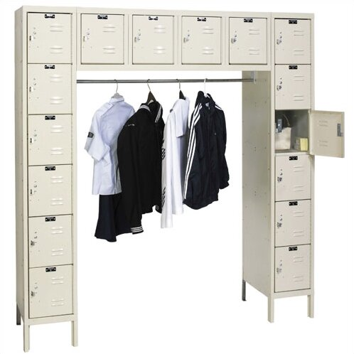 Premium 6 Tier 6 Wide Employee Locker by Hallowell