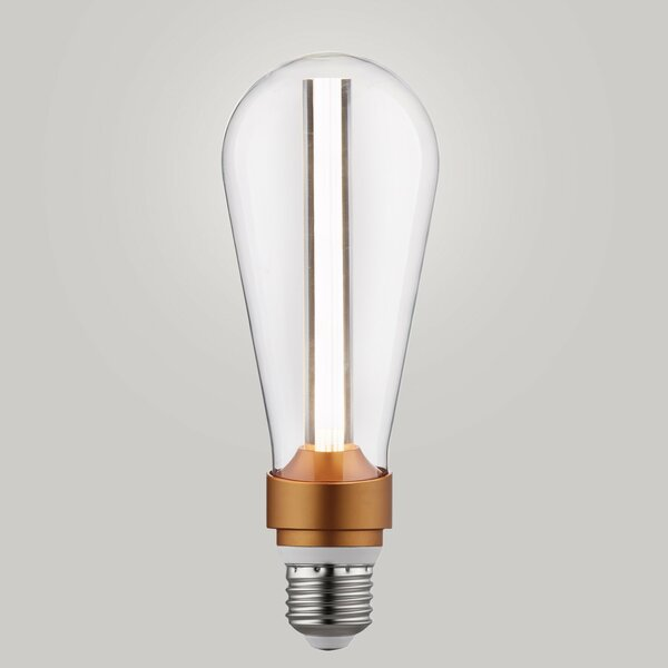 15W Equivalent Amber E26/Medium LED S-Type Edison Light Bulb by Globe Electric Company