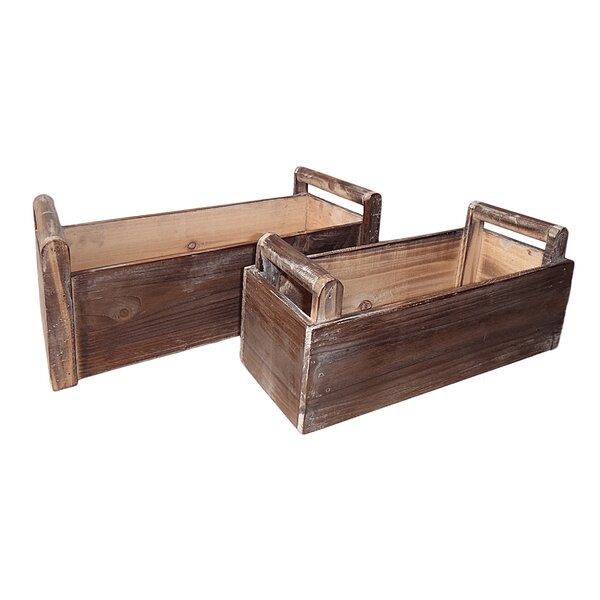 Phoenix 2 Piece Wood Planter Box Set by August Grove