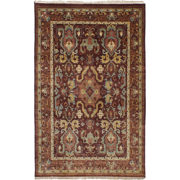 One-of-a-Kind Aalborg Hand-Knotted Wool Brown/Beige Area Rug by Isabelline