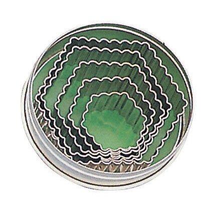Fluted Hexagon Dough Cutter Set (Set of 2) by Paderno World Cuisine