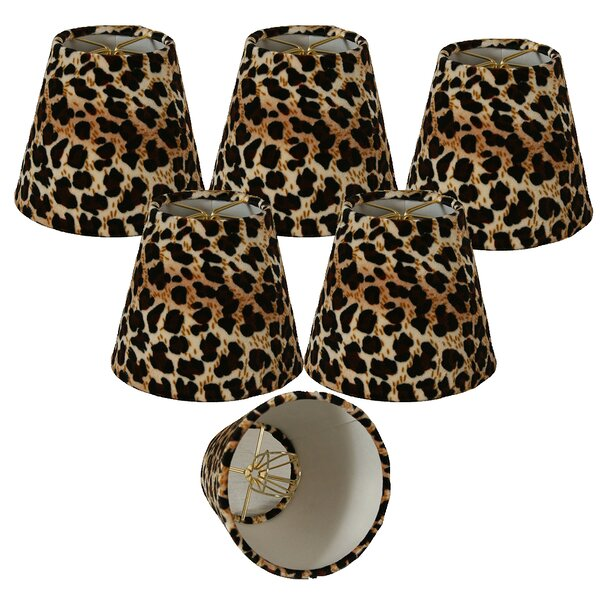5 Faux Fur Empire Candelabra Shade (Set of 6) by World Menagerie