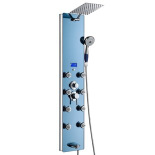 Tower Pressure Balanced Thermostatic Rain Shower Panel - Includes Rough-In Valve by AKDY