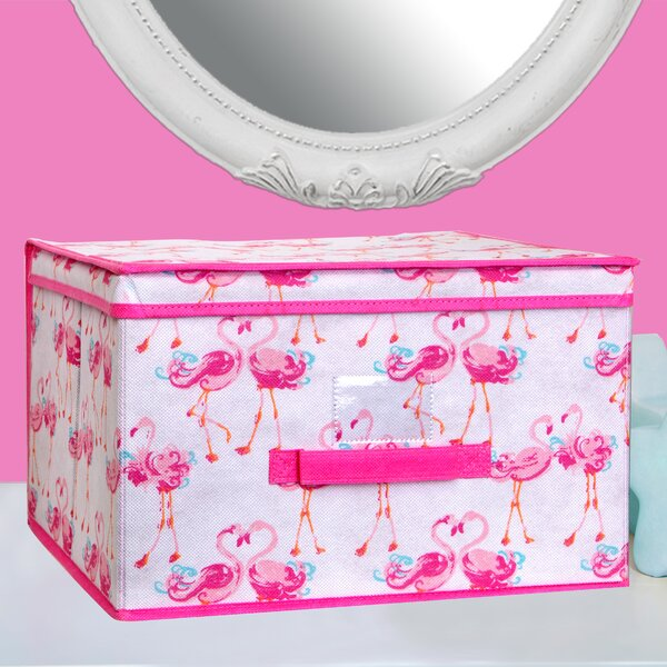 Pretty Flamingo Fabric Cube or Bin by Laura Ashley Home