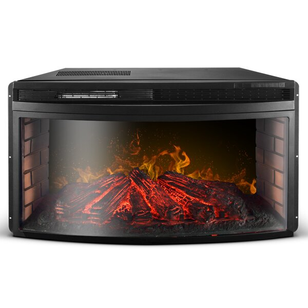 Brookins Embedded Electric Fireplace Insert By Winston Porter