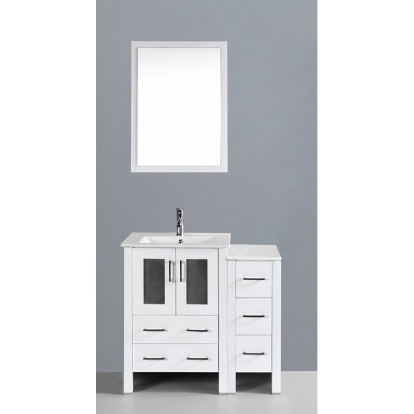 Danville 37 Single Bathroom Vanity Set with Mirror by Bosconi