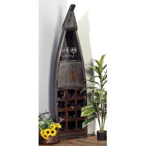 Wood Boat 12 Bottle Floor Wine Bottle Rack by Cole & Grey
