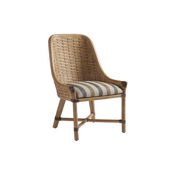 Los Altos Keeling Woven Linen Upholstered  Dining Chair by Tommy Bahama Home Tommy Bahama Home