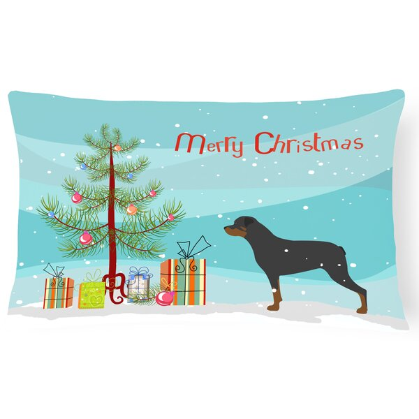 Rottweiler Indoor/Outdoor Lumbar Pillow by The Holiday Aisle