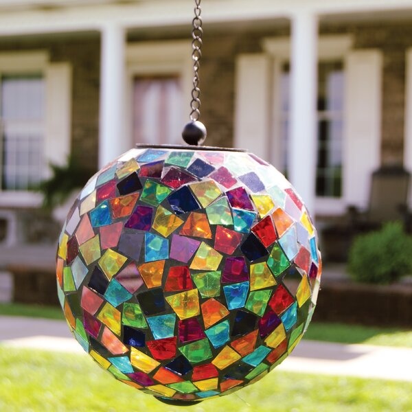 Hanging Mosaic Solar Orb by Carson Home