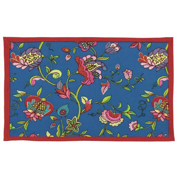 Wyndham Cotton Screen Print Floral Placemat (Set of 6) by Traders and Company